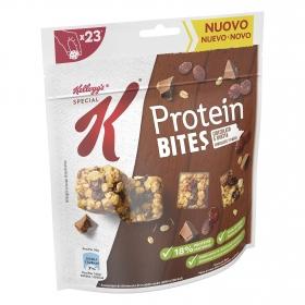 Cereales con chocolate y pasas Proteín Bites Special K Kellogg's 120 g.