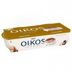 Yogur griego con tiramisú Danone Oikos pack de 2 unidades de 110 g.