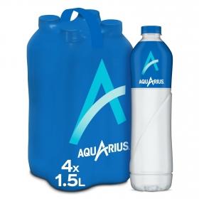Bebida Isotónica Aquarius sabor limón pack de 4 botellas de 1,5 l.