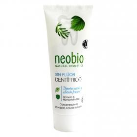 Dentífrico de romero sin flúor ecológico Neobio 75 ml.
