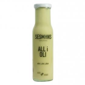 Salsa alioli ecológica Sesmans botella 240 g.