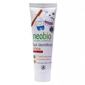 Dentífrico niños sin fluor ecológico Neobio 50 ml.