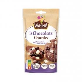 Pepitas de tres chocolates Chunks Vahiné 100 g.