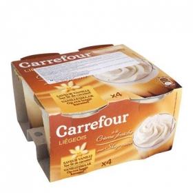 Copa de vainilla y caramelo Carrefour pack de 4 unidades de 100 g.