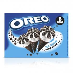 Conos con helado de nata y galleta mini Oreo 8 ud.