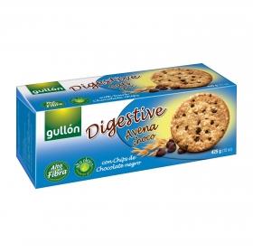 Galletas de avena con pepitas de chocolate Digestive Gullón 425 g.
