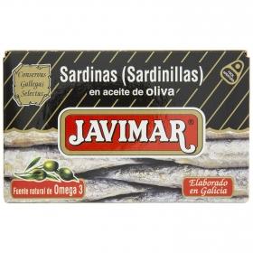 Sardinas en aceite de oliva Javimar 65 g.