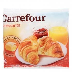 Croissants con mantequilla Carrefour pack de 6 unidades de 60 g.