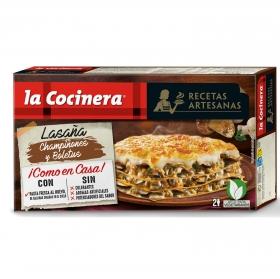 Lasaña de champiñones y boletus La Cocinera 500 g.