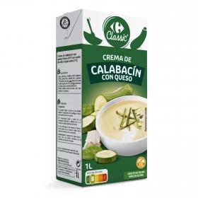 Crema de calabacín con queso Carrefour 1 l.