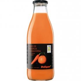 Zumo de naranja y zanahoria ecológico Delizum botella 1 l.