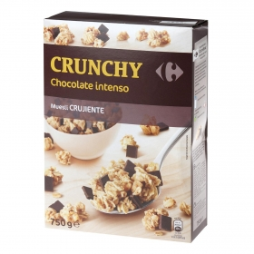 Cereales crujientes con chocolate Muesli Carrefour 750 g.
