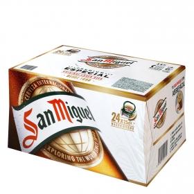 Cerveza San Miguel especial Lager pack de 24 botellas de 25 cl.