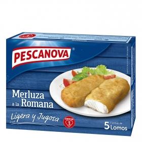 Lomos de merluza a la romana Pescanova 325 g.