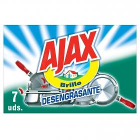 Estropajos  Jabonosos Ajax 7 UD  -