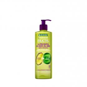 Crema gel nutri rizos secado al aire sin aclarado cabello rizado Garnier-Fructis 400 ml.