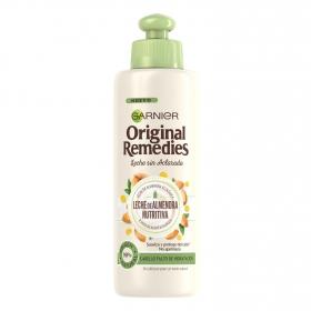 Aceite en crema leche de almendra nutritiva Garnier Original Remedies 200 ml.