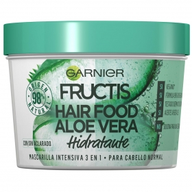 Mascarilla capilar 3 en 1 Hair Food Aloe Vera hidratante para cabello normal Garnier Fructis 390 ml.