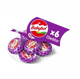 Queso mini cheddar Babybel pack de 6 unidades de 20 g.