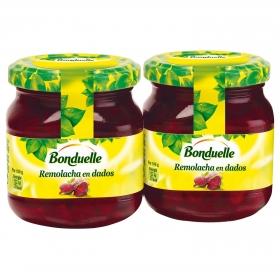 Remolacha roja en dados Bonduelle pack 2 unidades de 135 g.
