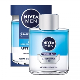 After shave Protege y Cuida 2 en 1 Refresca & Hidrata Nivea 100 ml.