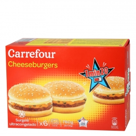 Cheeseburguers Carrefour 780 g. 780 g.