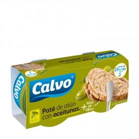 Paté de atún claro con aceitunas Calvo 165 g.