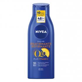 Body Milk Reafirmante Piel seca Nivea Q10 400 ml.