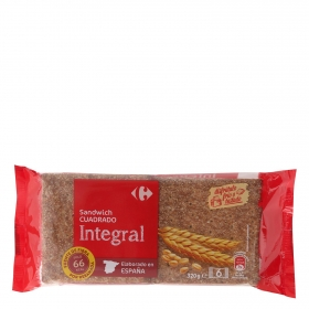 Pan sándwich integral Carrefour 320 g.