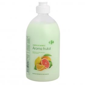 Jabón de manos aroma frutal Carrefour 500 ml.