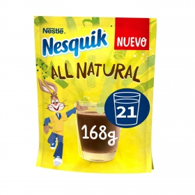 Cacao soluble instantáneo All Natural Nestlé Nesquik sin gluten 168 g.