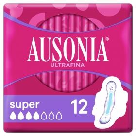 Compresas con alas super Ausonia 12 ud.