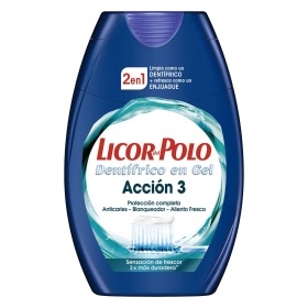Dentífrico + enjuague bucal 2 en 1 Acción 3 Licor del Polo 75 ml.