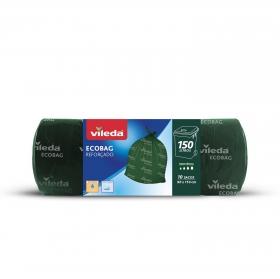 10 Bolsas de basura de Plástico VILEDA Reforzada 150 Litros - Verde