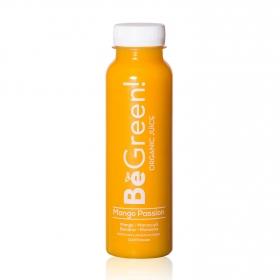 Smoothie de mango, maracuyá, banana y manzana ecológico Be Green botella 30 cl.