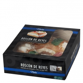 Roscón de reyes pequeño de nata Carrefour 450 g
