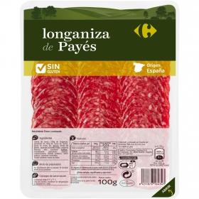Longaniza payés  Carrefour sin gluten  100 g.