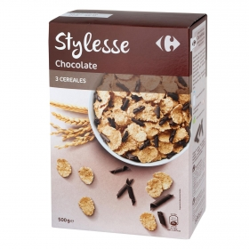 Cereales con chocolate Stylesse Carrefour 500 g.