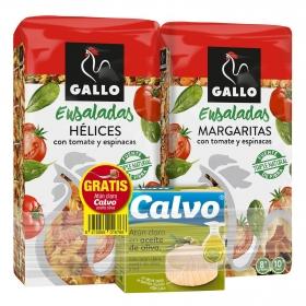 Espirales de tomate y espinacas Gallo pack de 2 unidades de 500 g.