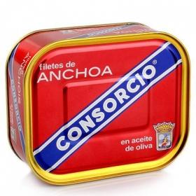 Filetes de anchoas en aceite de oliva Consorcio 252 g.