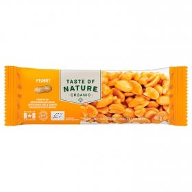 Barrita de cacahuete ecológica Taste of Nature 40 g.