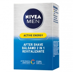 Bálsamo After Shave Active Energy Revitalizante Nivea Men 100 ml.