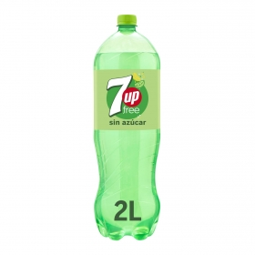 Refresco de lima-limón 7UP con gas zero azúcar botella 2 l.