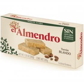 Turrón blando sin azúcar añadido El Almendro 200 g.