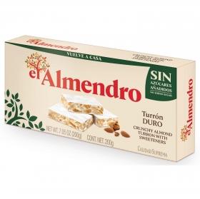 Turrón duro sin azúcar añadido El Almendro 200 g.