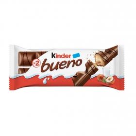 Barrita de chocolate con leche relleno de crema de avellanas Kinder Bueno 2 ud.