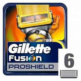 Cargador para afeitar Fusión Proshield Gillette 6 ud.