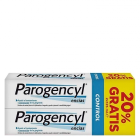 Dentífrico control Duplo Parogencyl pack de 2 unidades de 125 ml.