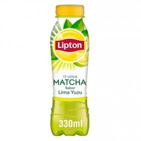 Refresco de té verde matcha sabor lima yuzu Lipton botella 33 cl.