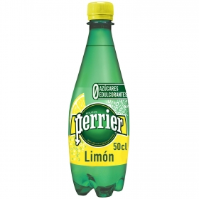 Agua mineral Perrier natural con gas sabor limón 50 cl.